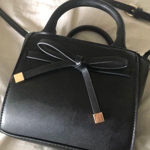 A New Day Small Black Bow Purse Handbag